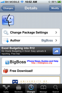 Cydia Modify App