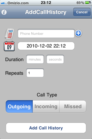 Add Call History
