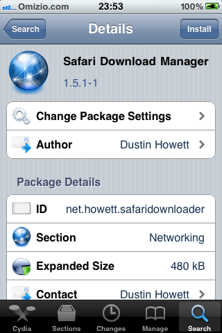 Safari download manager