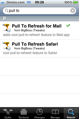Pull to refresh Safari browser