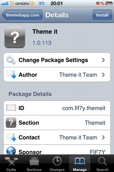 Theme it Cydia app