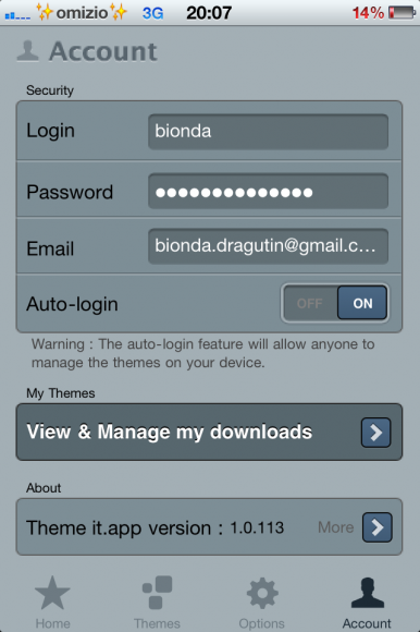 Theme it Cydia account