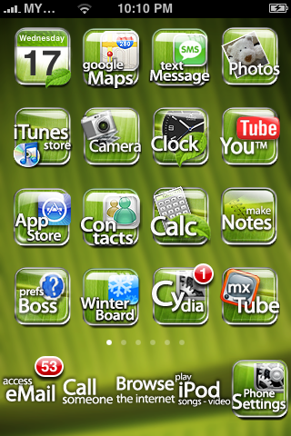 Cydia theme Leaf