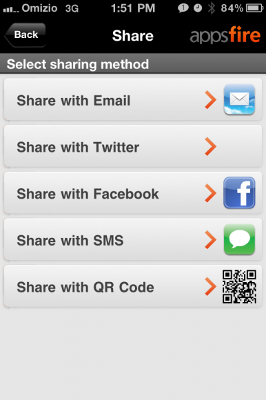 AppDeal Share Opcije