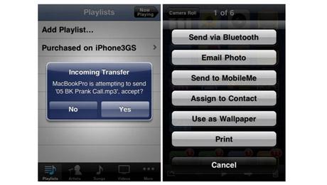 iphone 3g bluetooth file transfer