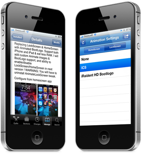 ICS Animated CYDIA tweak