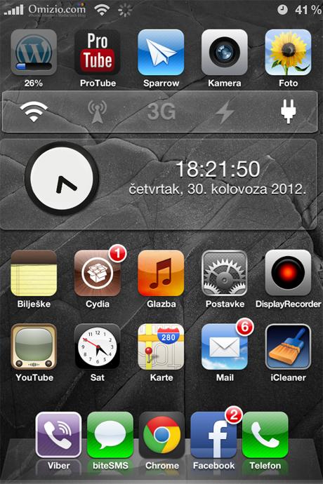 percent bar iphone