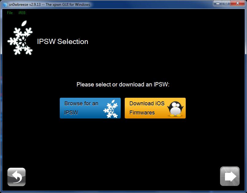 ipsw-selection