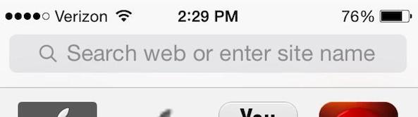 Text u tražilici napominje da možete upisati web adresu ili search