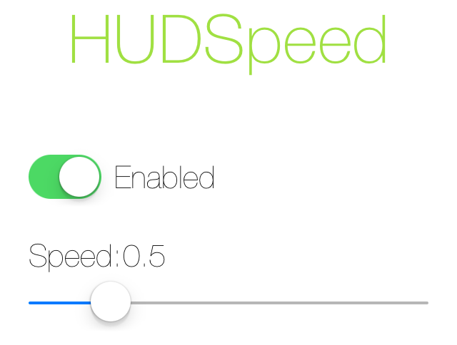 HUDSpeed-Settings