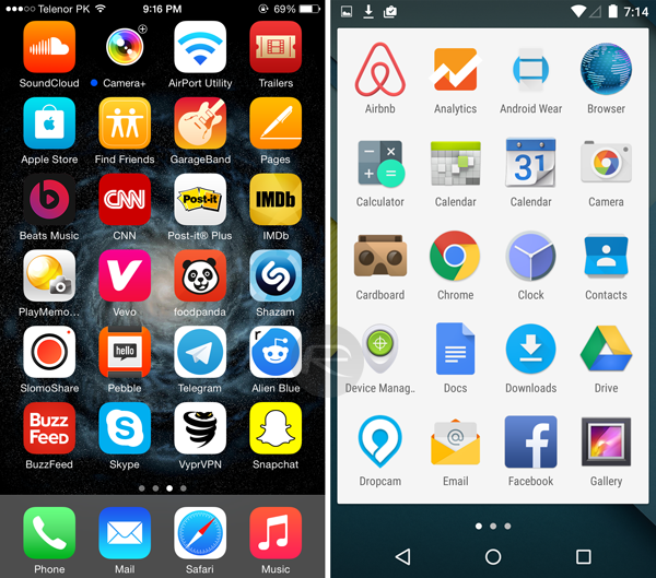 Aplikacije (Home Screen i App Drawer)