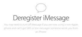 Kako odjaviti iMessage uslugu?