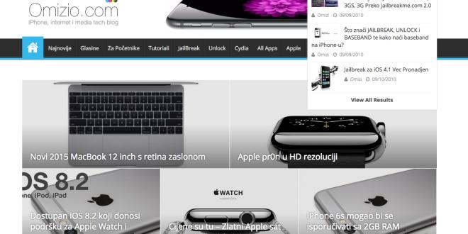 Omizio Blog Screen
